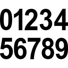10cm schwarz Wunsch Wahl Aufkleber Tattoo Ziffer Zahl Nummer Haus Tür Spind Auto