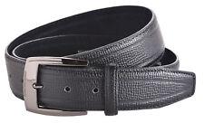 MILANO hommes 3.8cm (40MM) Lézard Cuir Grainé Pantalon - jeans ceinture