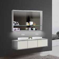 Lux-aqua Design LED Badzimmer Wandspiegelschrank Breite von 101-120cm