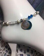 Bracelet/Anklet W/Swarovski Elements Usa Healing Freshwater Pearl Ankle
