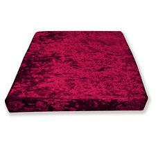 Mv11t Deep Red Diamond Crushed Velvet Sofa 3D Box Seat Cushion Cover Custom size