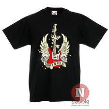 Rock n Roll Guitarra Banda Músico Festival infantil Camiseta 3-13 AÑOS