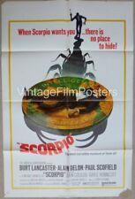 SCORPIO, original 1973 movie 1-sheet, Burt LANCASTER, Alain DELON, CIA Thriller