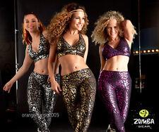 Zumba Find Your Shine Long Leggings-Elite ZWear (Silver,Gold,Fuchsia) All Sizes!