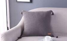 Eva's Wish-100% Premium Cotton Knit Home Decor Cushion/Throw Pillow with Tassels