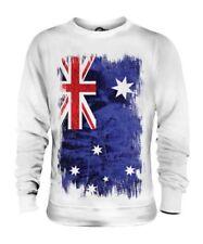 Australie Drapeau Grunge Unisexe Pull Australien Maillot de Football Cadeau