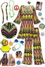 Sublime Print 60's Retro PLUS SIZE Hippie 2pc set + Halloween Costume Lg to 9x