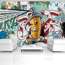 Fototapete Tapete Wandbild 1D20064176 Photo Wallpaper Mural Gelbe Graffiti-Spray