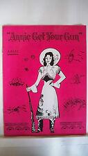 ANNIE GET YOUR GUN Souvenir Program BILLIE WORTH / TAGGART CASEY / RETA SHAW `49