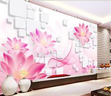 3D Beautiful Pink Lotus Flower Wall Paper Wall Print Decal Wall AJ WALLPAPER CA