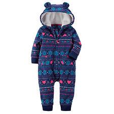 Newborn Infant Kids Baby Boys Warm Romper Jumpsuit Bodysuit Hooded Clothes