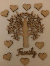 Family Tree Kit Set Heart Laser Cut 3mm MDF Wooden Craft Blank Wedding