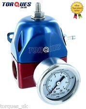 Torques AN-10 JIC10 ORB-10 EFI Adjustable Fuel Pressure Regulator 30-70PSI+GAUGE