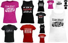 Damen T-Shirt Junggesellinnenabschied - Gruppenshirt Jungessellen  Braut T-Shirt