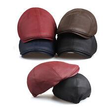 Unisex Mens Polyester Plain Flat Cap Newsboy Baker Boy Cabbie Gatsby Driver Hats
