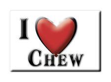 SOUVENIR UK - ENGLAND FRIDGE MAGNET UNITED KINGDOM I LOVE CHEW (SOMERSET)