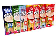 Ciao Chu ru Cat Paste Treats Inaba Feline Creamy Snacks with Vitamin E 14gx4pcs