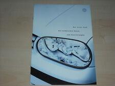 37773) VW Golf IV technische Daten & Ausstattungen Prospekt 06/1998
