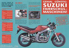 Suzuki Fahrschul Maschinen 1997 Prospekt GS 500 E LS 650 Savage AP 50 GN 125