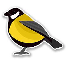 2 x Autocollant Vinyle jaune tit iPad Ordinateur Portable Casque Vélo de Voiture Petit Oiseau Jardin # 5820