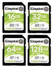 Kingston SD Card 16GB 32GB 64GB 128GB SDHC SDXC UHS-I Class 10 Memory Card 80MBs