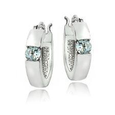 925 Silver Gemstone Huggie Earrings - 6 Colors