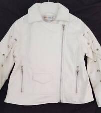 Baby Girl / Little Girl Leather Look Cream Jacket.