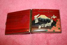 "Vintage Map Style Cigarette Case ""In Memory of Japan & Korea"" A.Y.K"