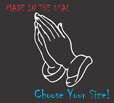 Praying Hands Vinyl Decal Religion Pray Church for Truck Car Window Sticker