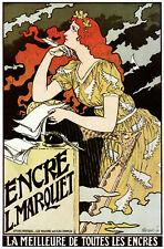 Encre L.Marqurt Vintage POSTER print.Stylish Graphics.Affiche Decor Art. 1871