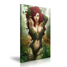 Poison Ivy Lona Comics Icono enmarcado impresión ~ más tamaño ~
