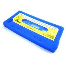 Coque housse étui cassette K7 rétro iPhone 5 Bleue