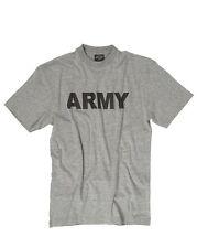 Mil tec us army style PT T-shirt Gris Entraînement Physique