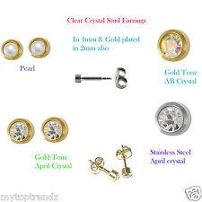 Hypoallergenic Certified Sterile Gold/Silver Tone Piercing Studs Earrings Studex