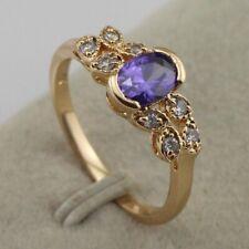 Size 6 7 8 10 Amazing Purple Amethyst Fashion Jewelry Gold Filled Ring rj1828