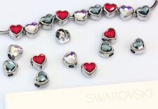 Genuine SWAROVSKI 81951 BeCharmed Heart Crystal Beads 14mm Stainless Steel