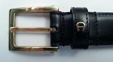 Aigner Gürtel Kalb Leder - Schliesse Goldfarben glänzend , Breite 3cm