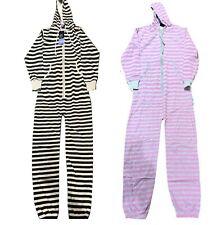 Mens Ladies Onsie1 unisex Jumpsuit Stripe Print Sleepwear PJ one piece Prison