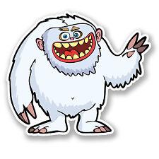 2 x Snow Yeti Vinyl Sticker Decal Monster Funny iPad Laptop Skateboard Fun #4378