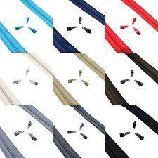Nylon De Alta Calidad Espiral Espiral Zip no 5 cinta continua con cremallera ✄ 9 Colores ✄ C2O