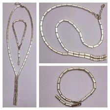 Esprit Kette + Armband 925er Silber mit Glassteinen Silberset Silbercollier
