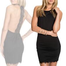 Abito nero pizzo elegante vestito donna schiena nuda vestitino elegante sera
