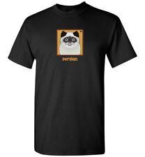 Persian Cat Cartoon T-Shirt, Men Women's Youth Tank Short Long (Flat-Face, Seal)