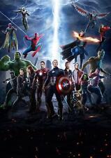 THE AVENGERS INFINITY WAR POSTER Iron Man Hulk Spiderman Captain America A4 A3