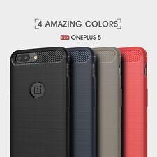 Housse etui coque silicone gel carbone pour OnePlus 5 + verre trempe