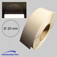 Verschlussetiketten - transparent - Ø 20 mm - 2000 Stück