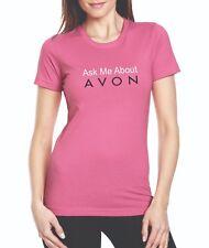 Ask Me About Avon...Anvil 780L Ladies Scoop Neck Pink T-shirt, 100% Cotton