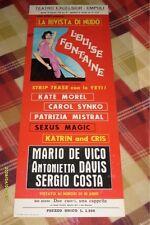 LOCANDINA CINEMA / LA RIVISTA DI NUDO LOUISE FONTAINE 82x31