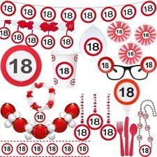 18. Geburtstag Verkehrsschilder Party Deko Zahl Volljährig Verkehrsschild Set