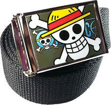 One Piece Monkey D. Luffy Belt Buckle Bottle Opener Adjustable Web Belt